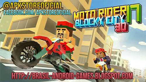 Moto Rider 3D: Blocky City 17 imagem do Jogo