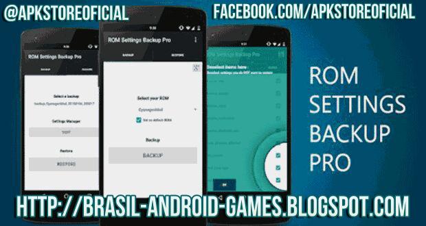 ROM Settings Backup Pro imagem do Aplicativos